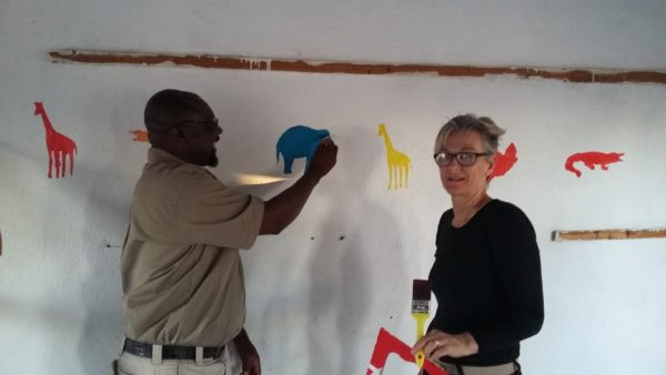 Transforming an Educational Space for Disadvantaged Learners – Agents Paint a Classroom at Dingani Primary School 3