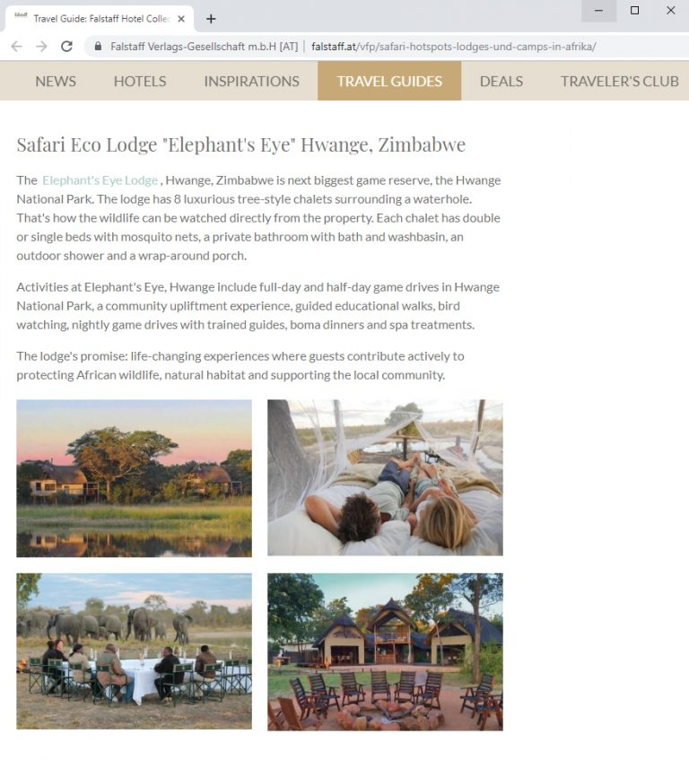 Falstaff Top 10 Safari Lodges and Camps in Africa