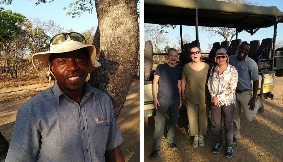 Dumi - our guide at Elephant's Eye, Hwange